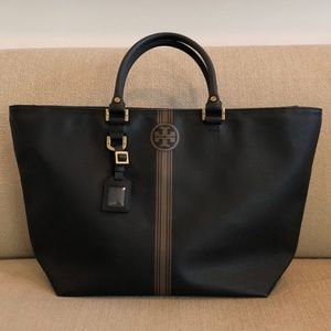 Tory Burch Large Coated Leather Tote